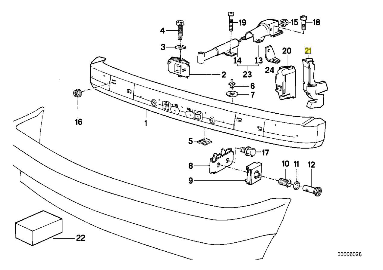 Bmw E34 Bumper Radiator Air Intake Duct Guide