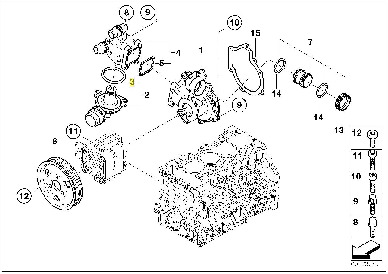 Bmw N40 N42 N46 N45 Engine Thermostat Gasket