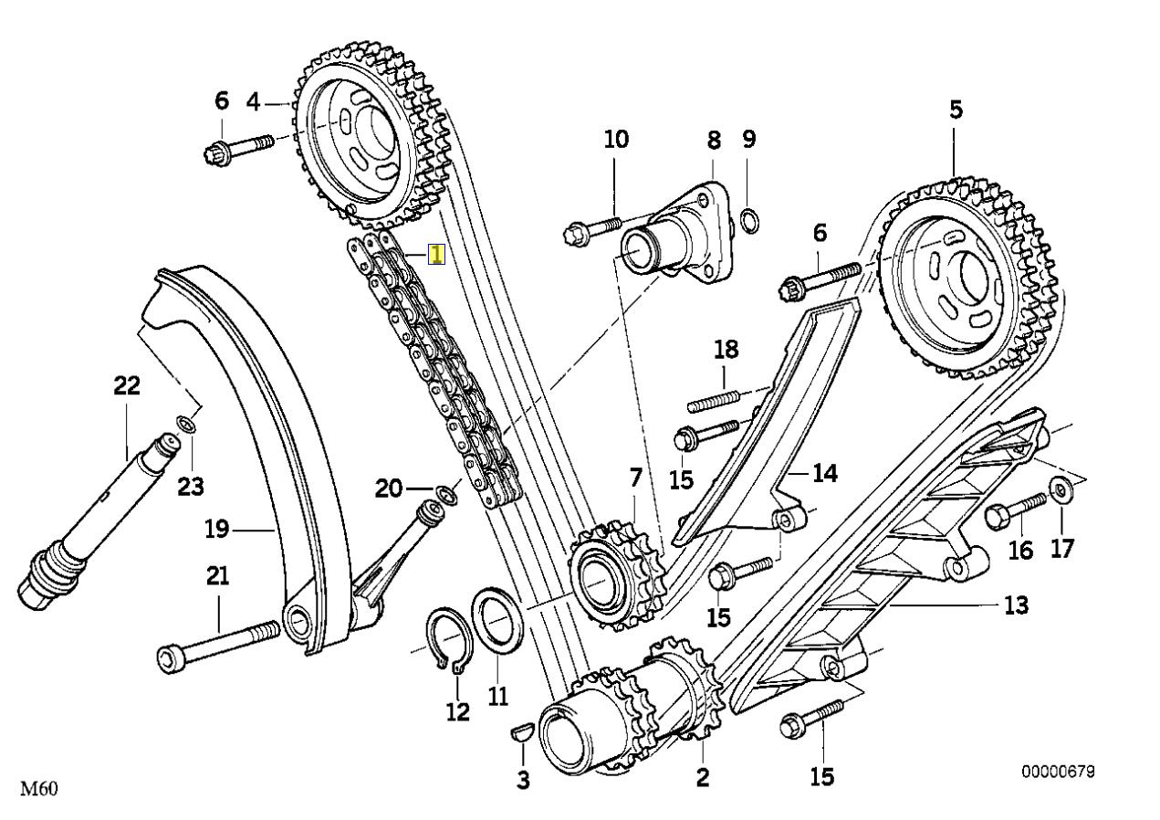 Bmw M60 V8 Engine Camshaft Main Timing Chain