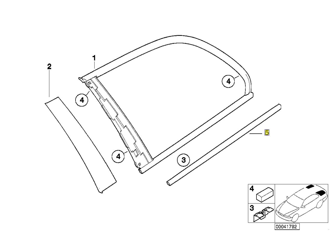 Bmw Series 3 E46 Aluminium Window Trim Cap