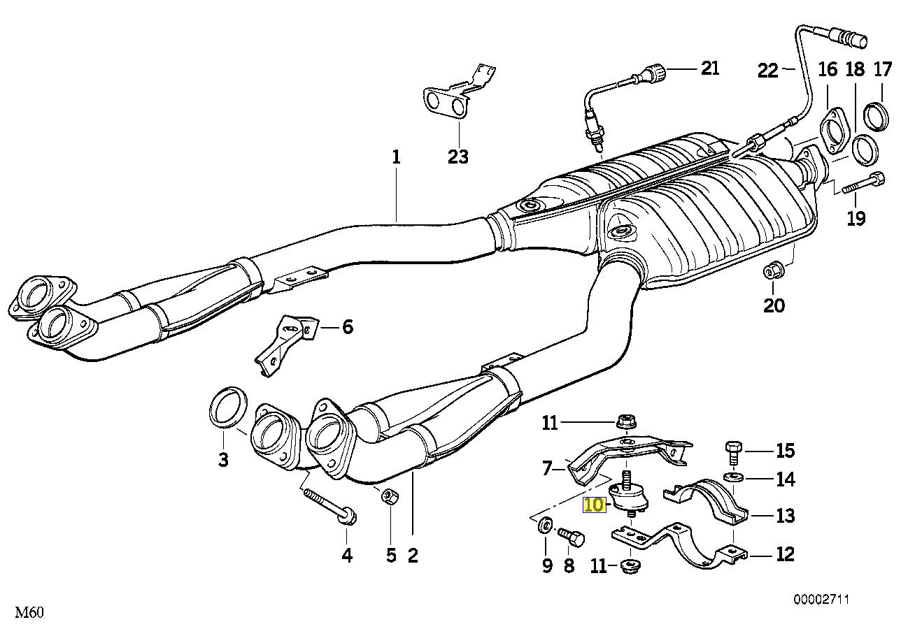 Bmw E31 E32 E34 E38 V8 V12 Halterung Auspuff Montage