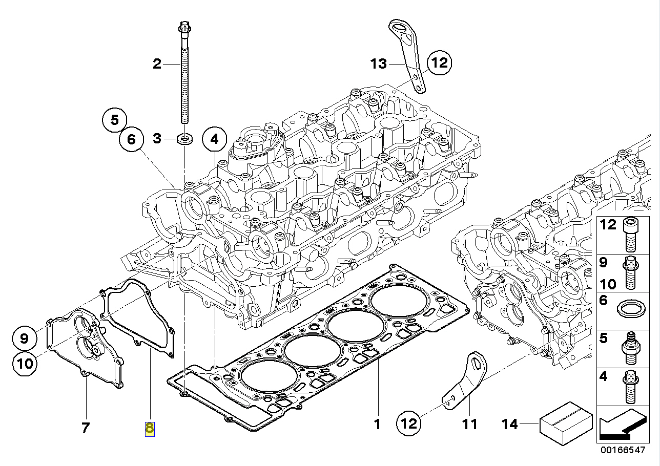 Bmw N63 V8 Engine Timing Case Cover Seal Gasket