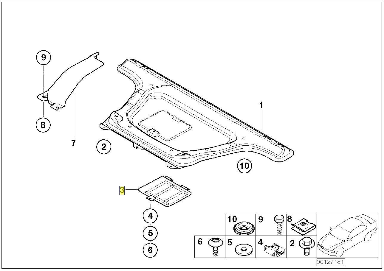 Bmw E46 Oil Sump Drain Plug Access Cover Flap