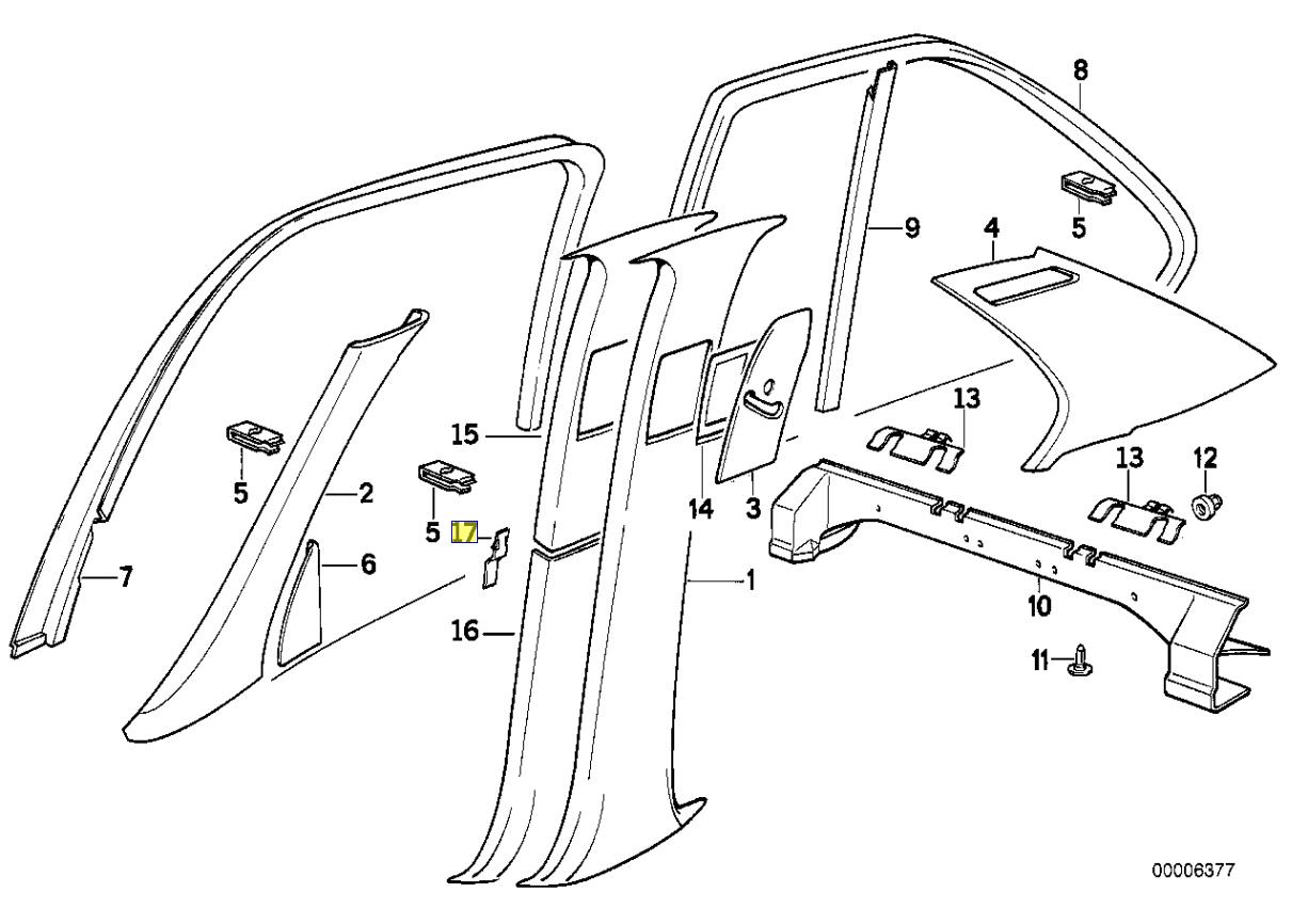 Bmw E34 E32 E83 Rand Stutze Clip Halterung Schelle