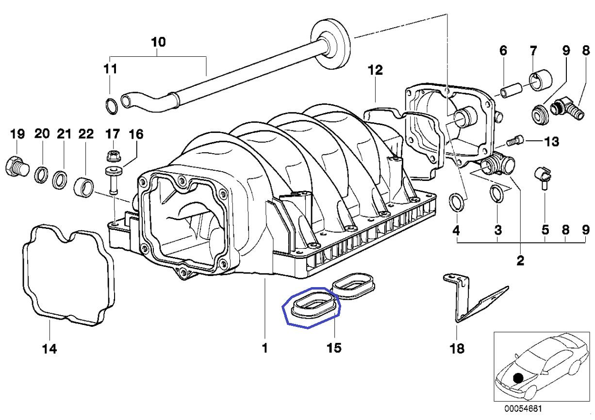 Bmw M60 M62 V8 Engine Intake Manifold Gasket