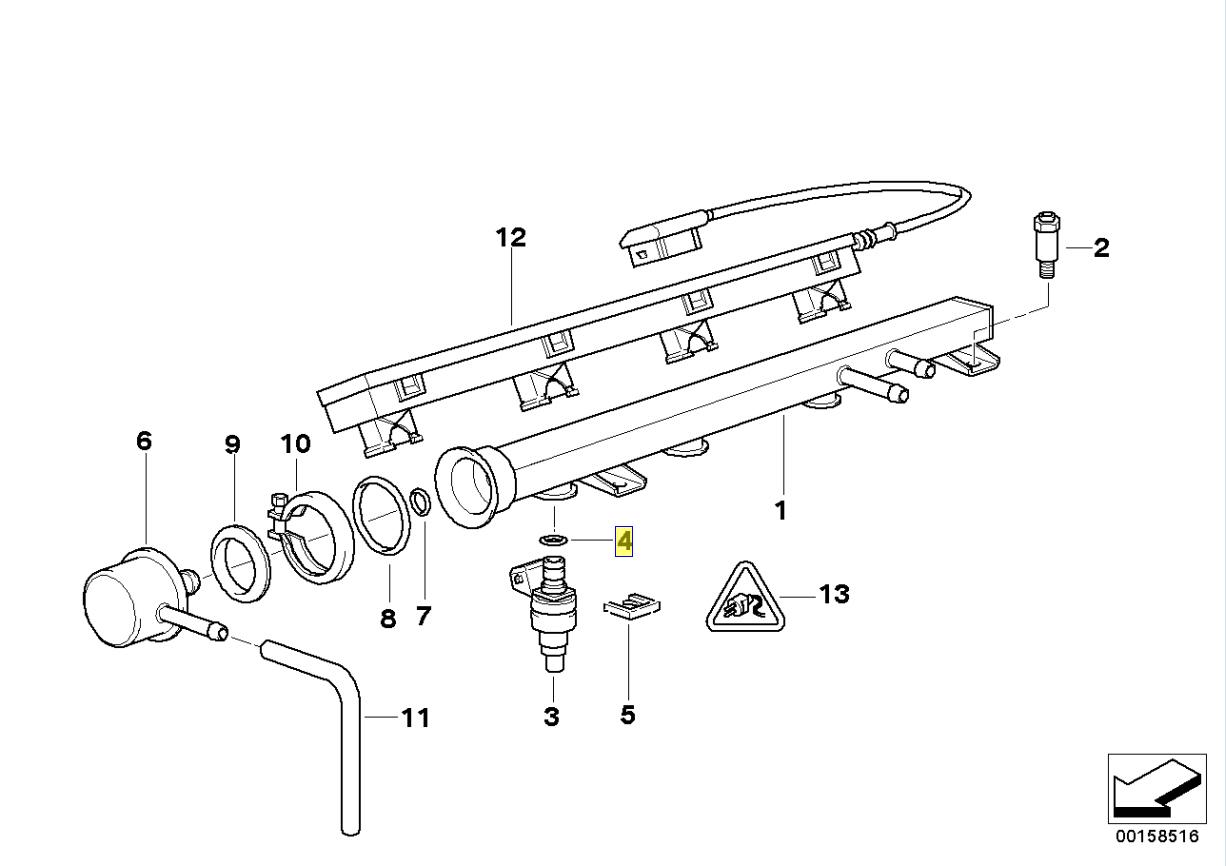 Bmw M10 M40 S14 M20 M30 M70 M60 Injector Seal