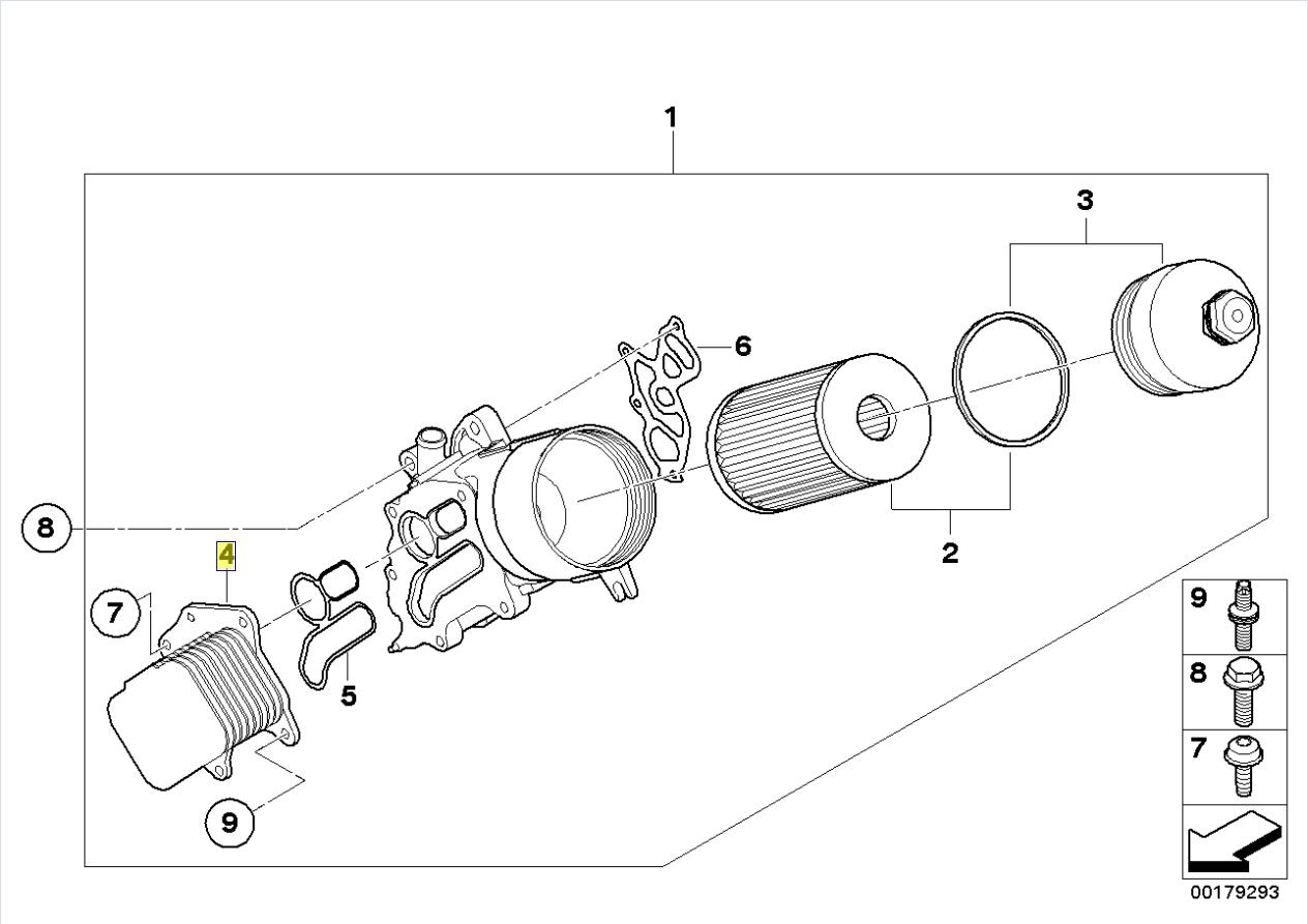 Bmw Mini R55 R56 Oil Cooler Air Heat Exchanger