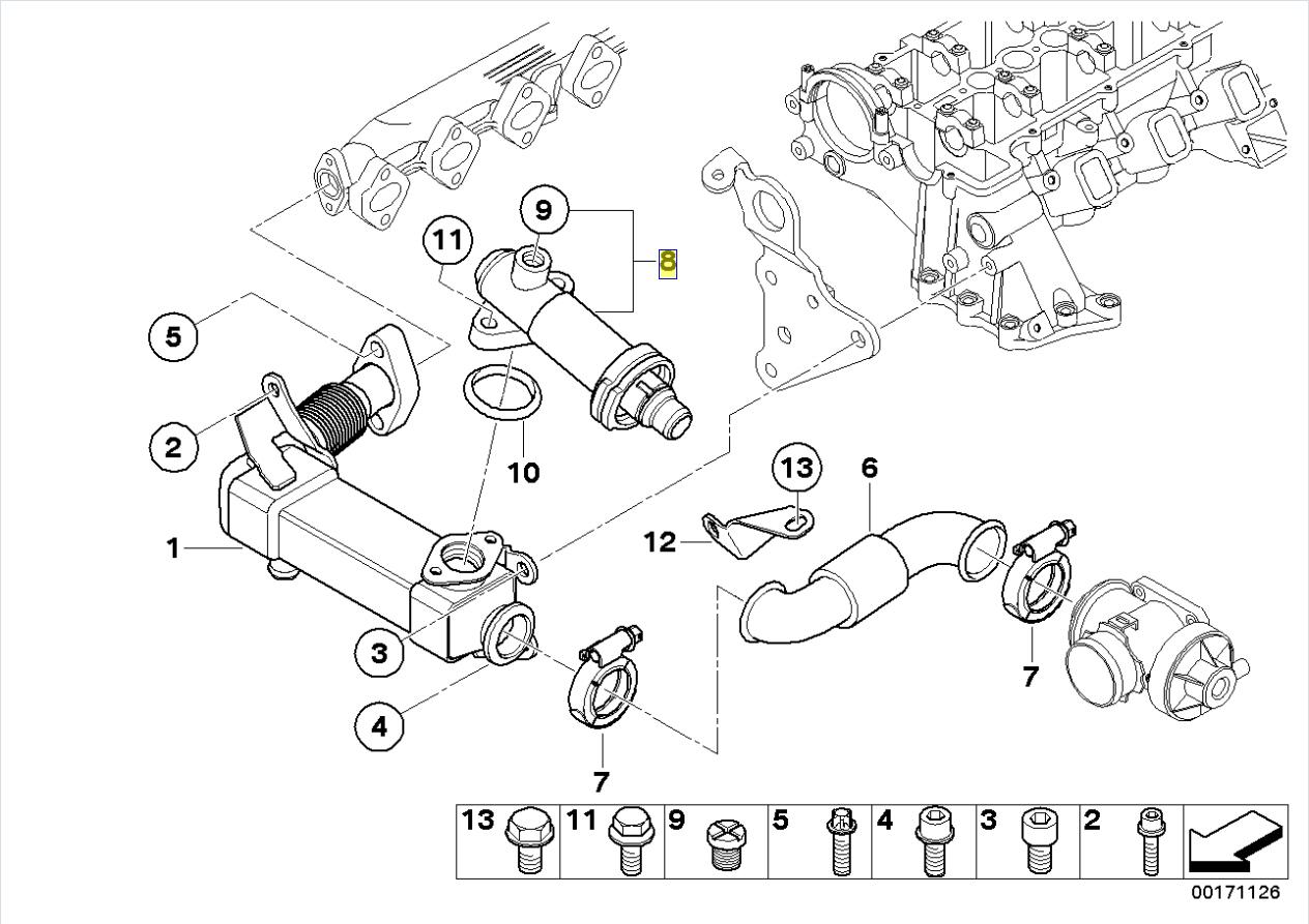 Bmw M47n M57n Engine Egr Thermostat Valve Liner