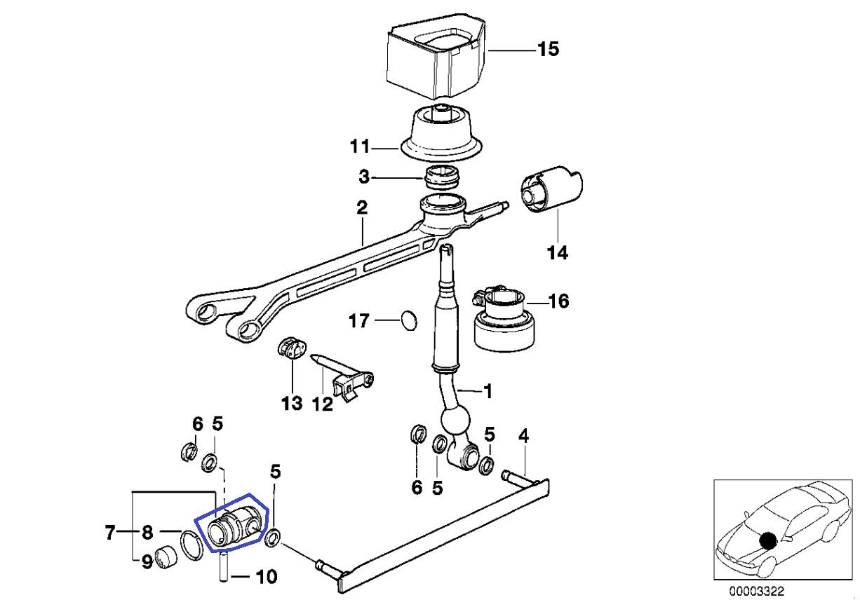Bmw Getrag Gear Box Selector Shaft Rod Joint