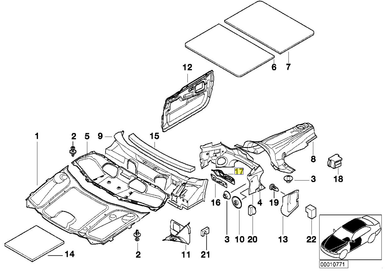 Bmw E38 Einheit Heizung Rohr Klemmhalterung Platte