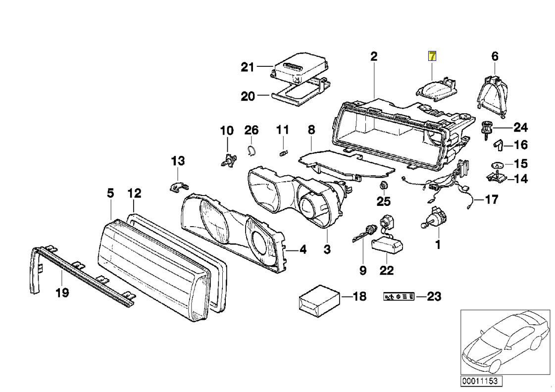Bmw E38 Scheinwerfer Fernlicht Gluhlampe Abdeckung Kappe