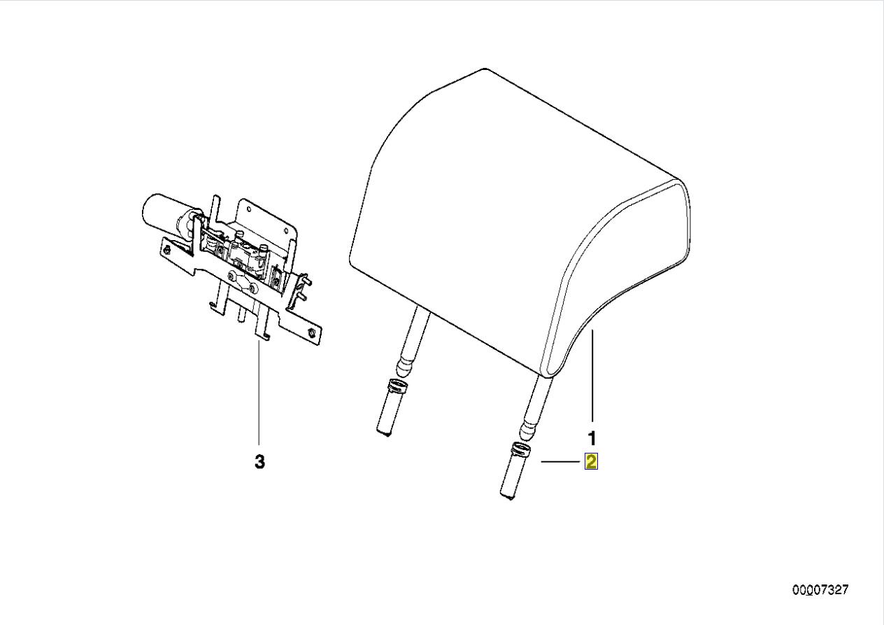 Bmw E38 E36 Kopfstutze Pfosten Anleitung Hulse Schlauch