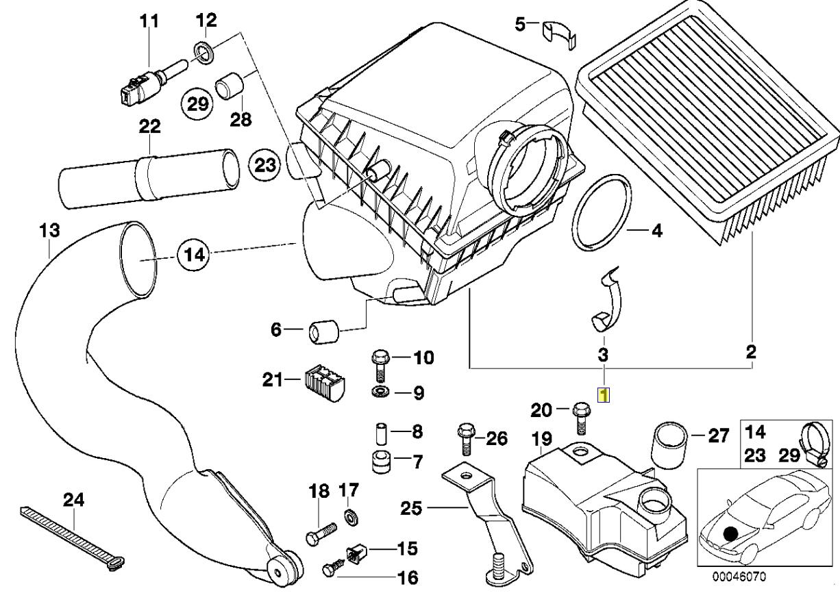 Bmw E38 M62 B44 V8 Engine Air Intake Trumpet