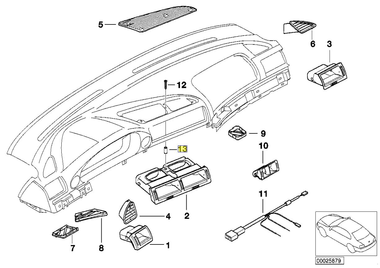 Bmw E38 Metall Abstandshalter Buchse Hulse Schlauch