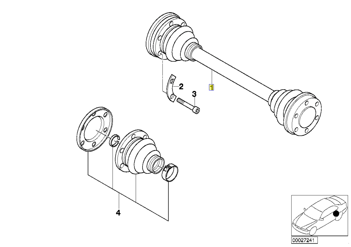 Bmw E34 V8 M5 Drive Shaft Cv Joint Bearing Cage