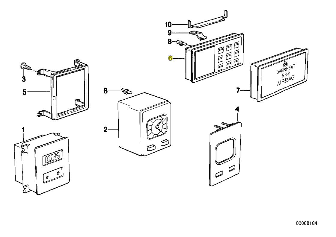 Bmw E30 E28 Check Control Unit Circuit Board