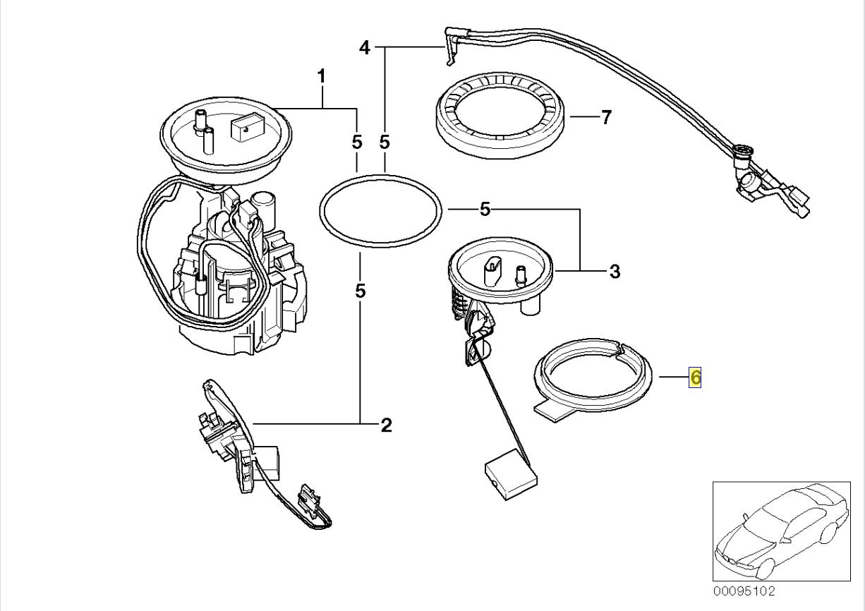 Bmw Fuel Tank Level Sensor Adapter Ring