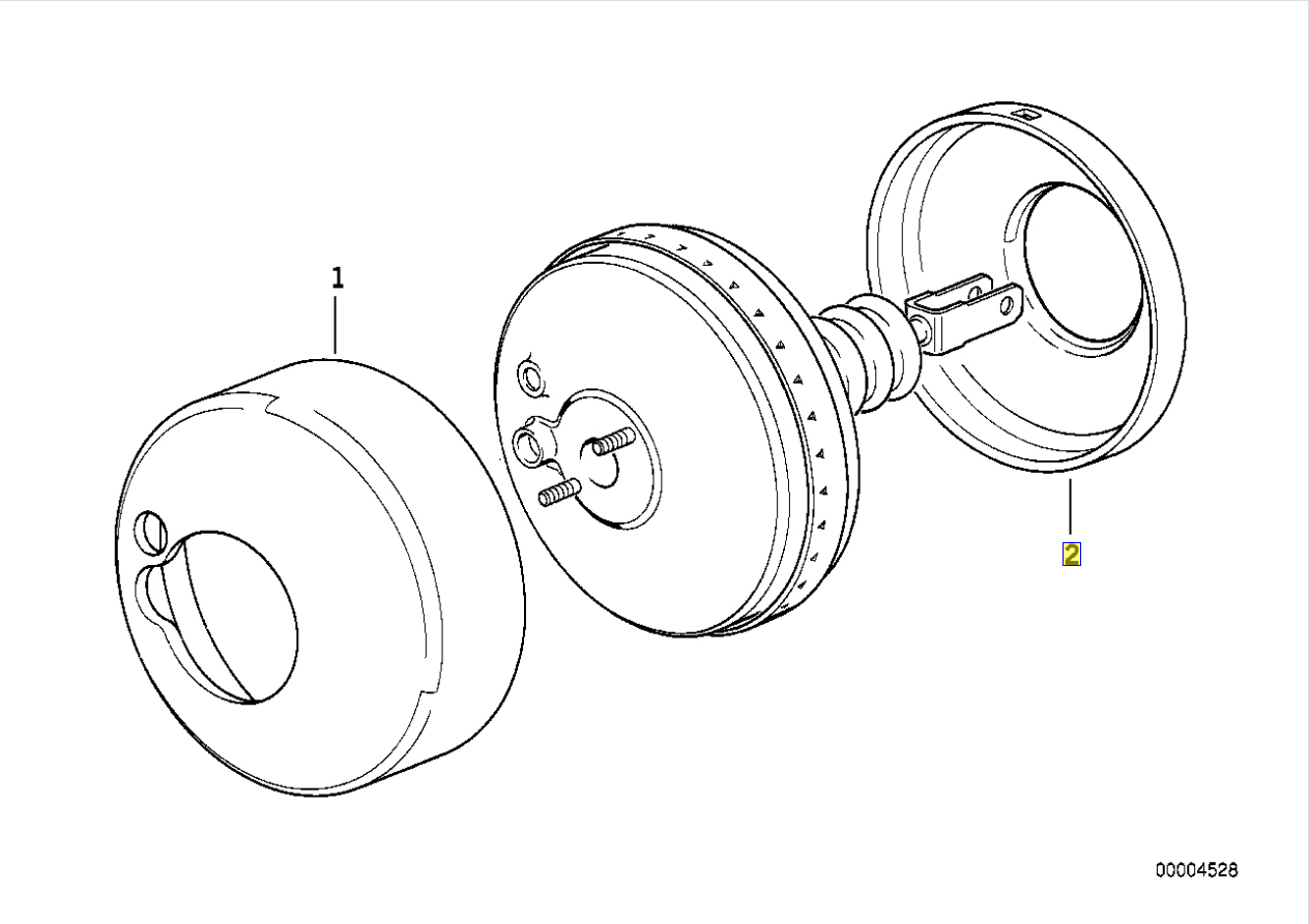 Bmw E36 Bremskraftverstarker Servo Schalldammung