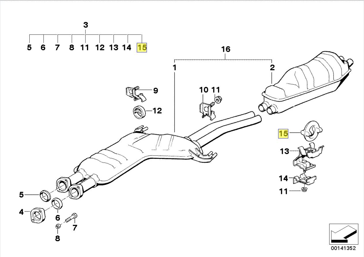 Bmw E30 E12 E28 E34 E24 E23 E32 Exhaust Hanger