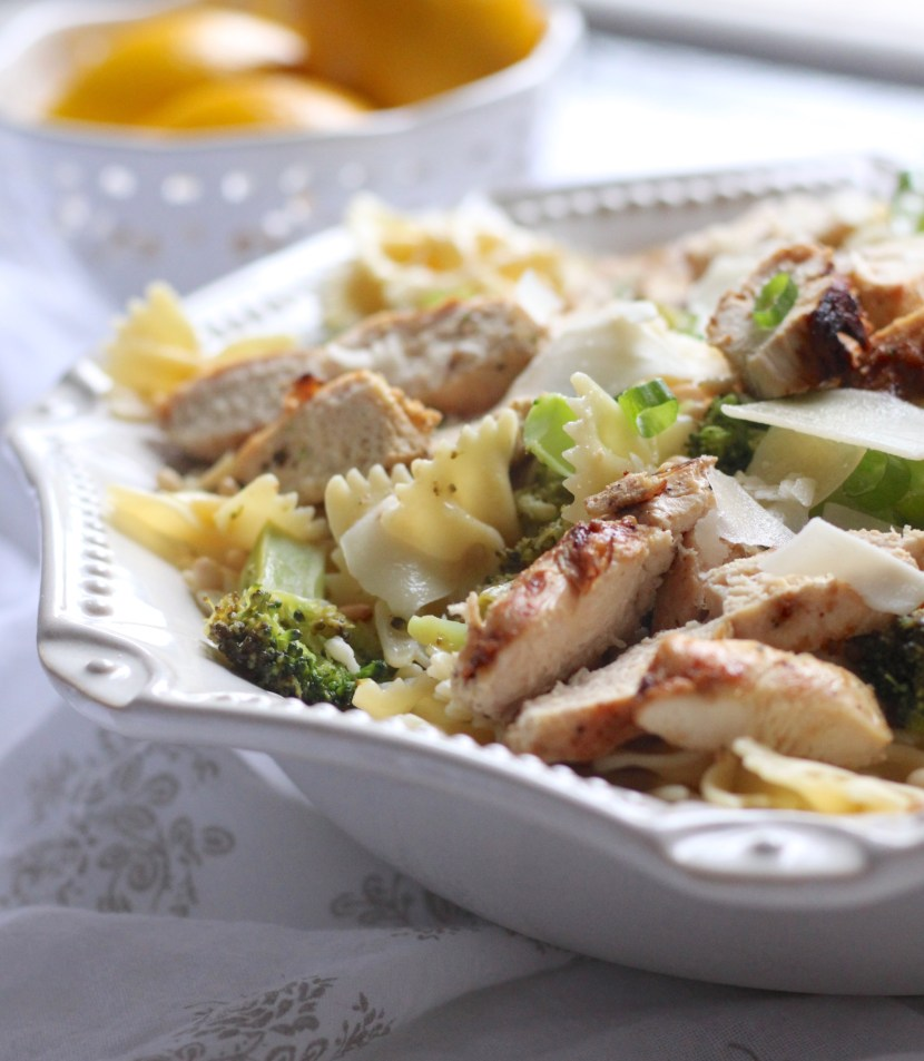 broccoli chicken farfalle