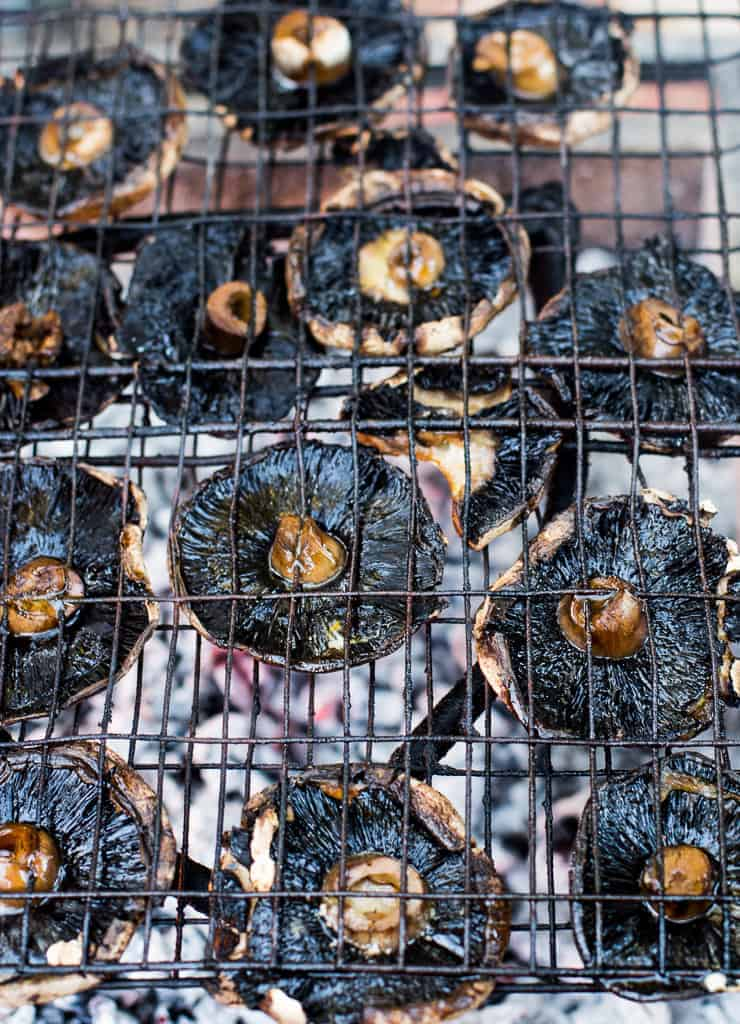 grilled portobello mushrooms - Braai salads and side dishes