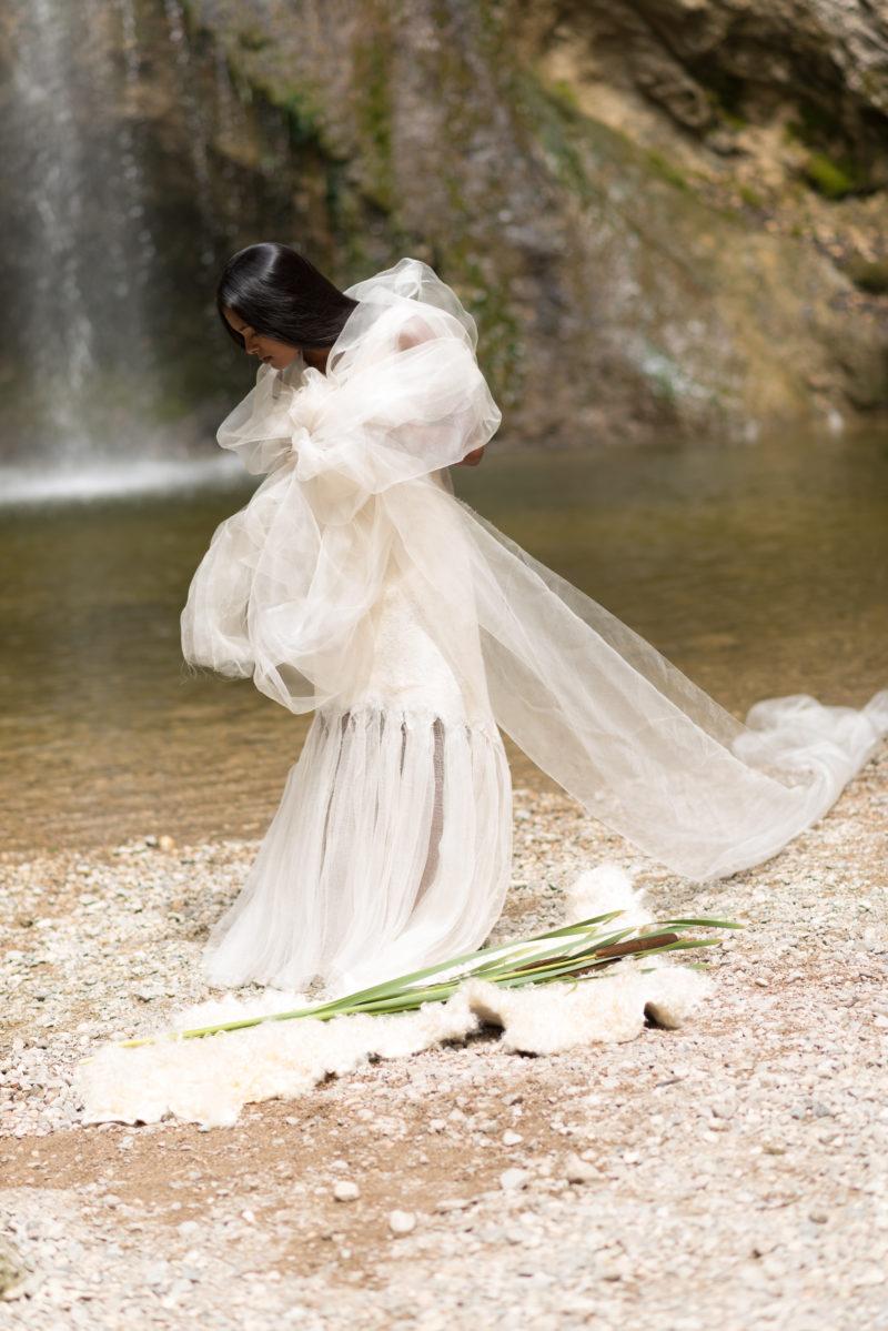 Brautkleid nahtlos gefilzt