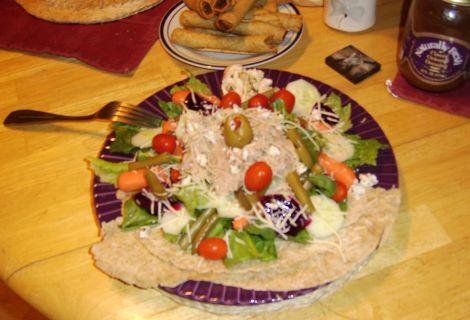 Tuna Fish Salad w/ Organic Dressing and Vegetarian Taquitos