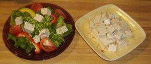 Raw Cashew Tofu Salad