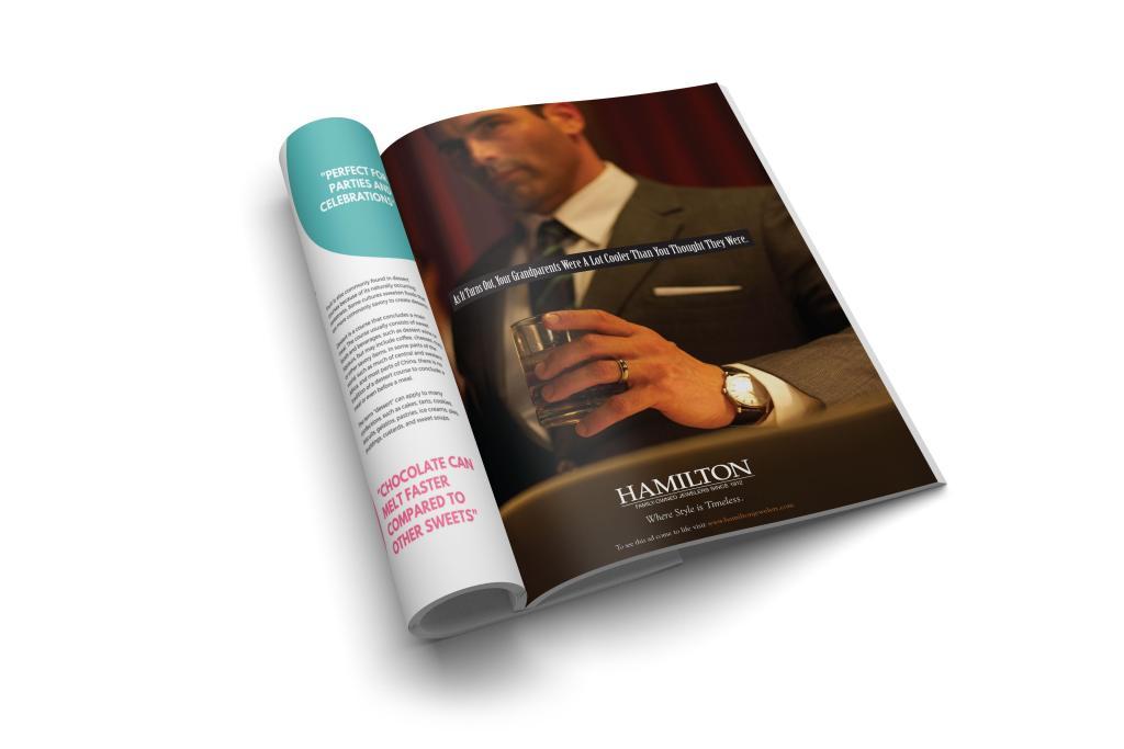 Hamilton Jewelers magazine ad