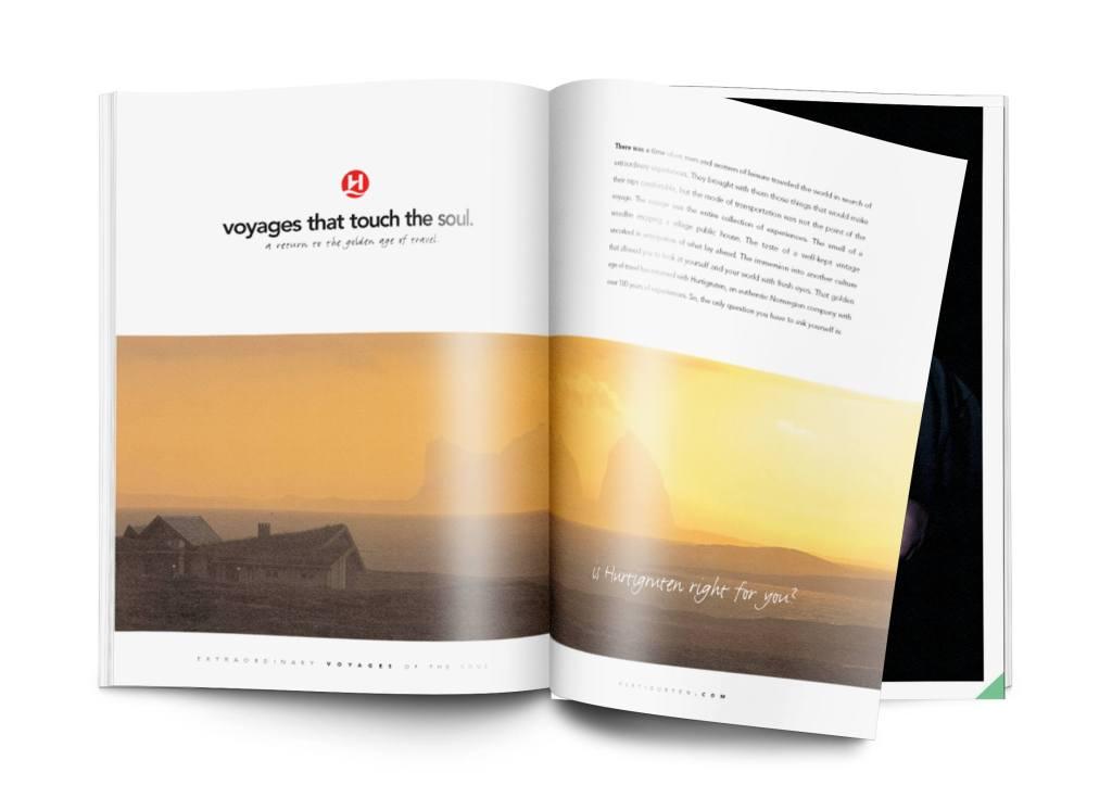 Hurtigrutin magazine ad
