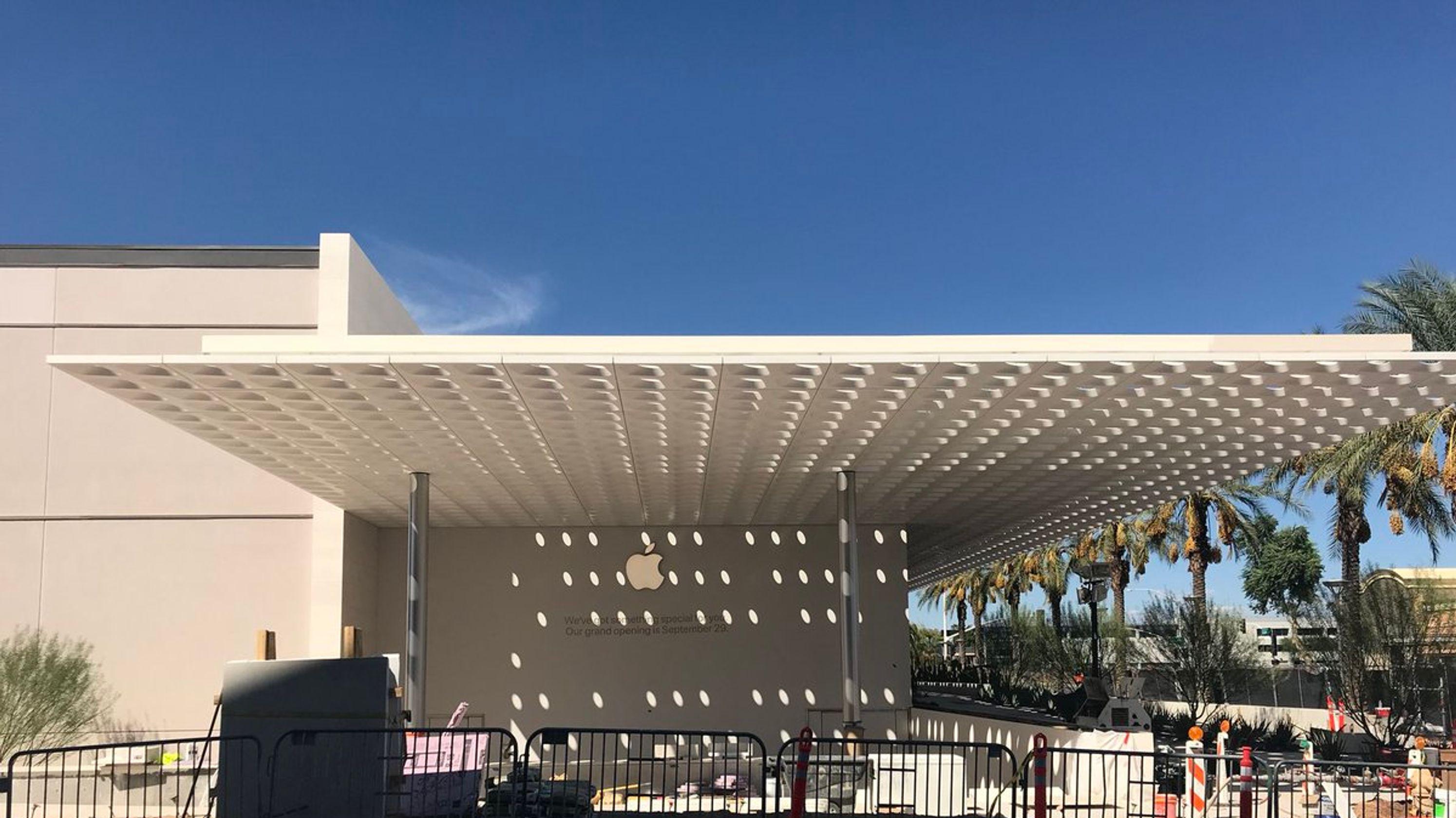 Apple store exterior