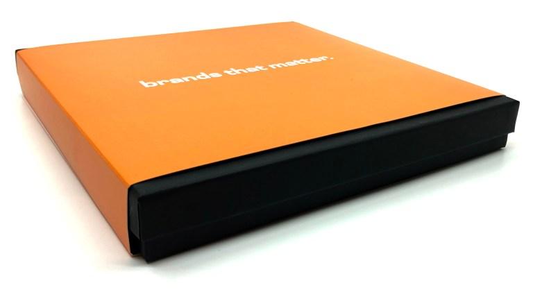 black box with orange wrap