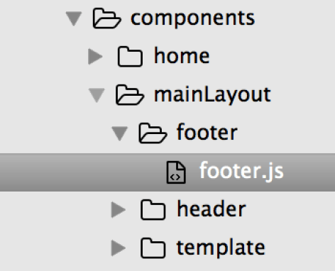 MainLayout Footer
