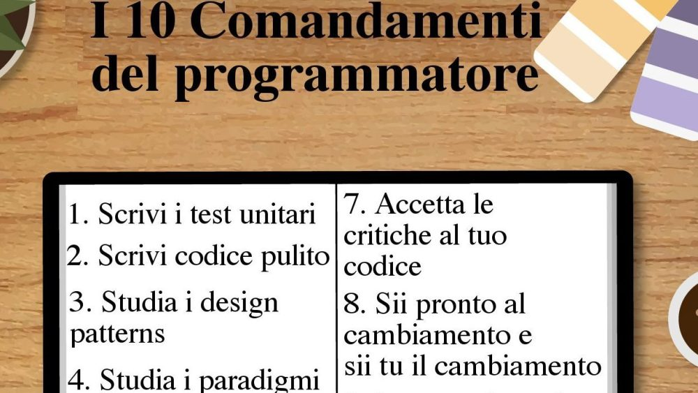 i 10 comandamenti del programmatore