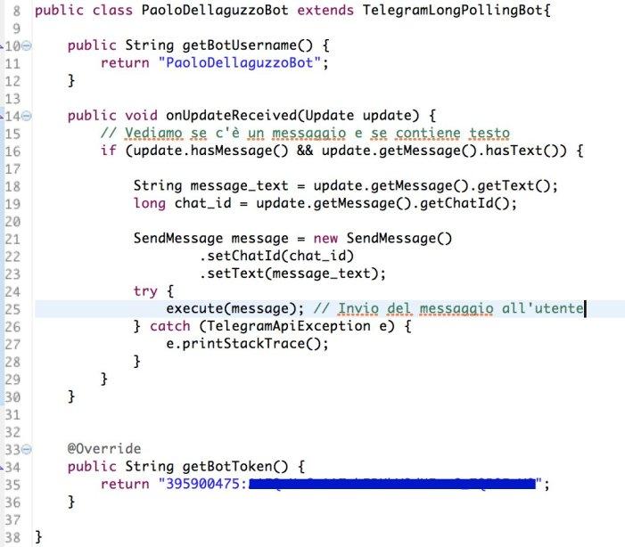Telegram Bot Codice