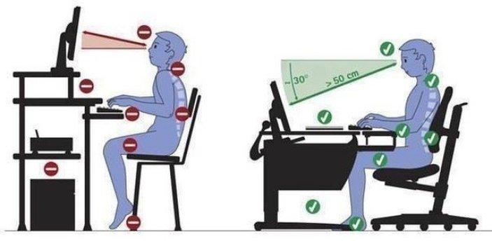 Postura per stare più comodo in ufficio