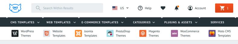 TemplateMonster menù comprare temi wordpress