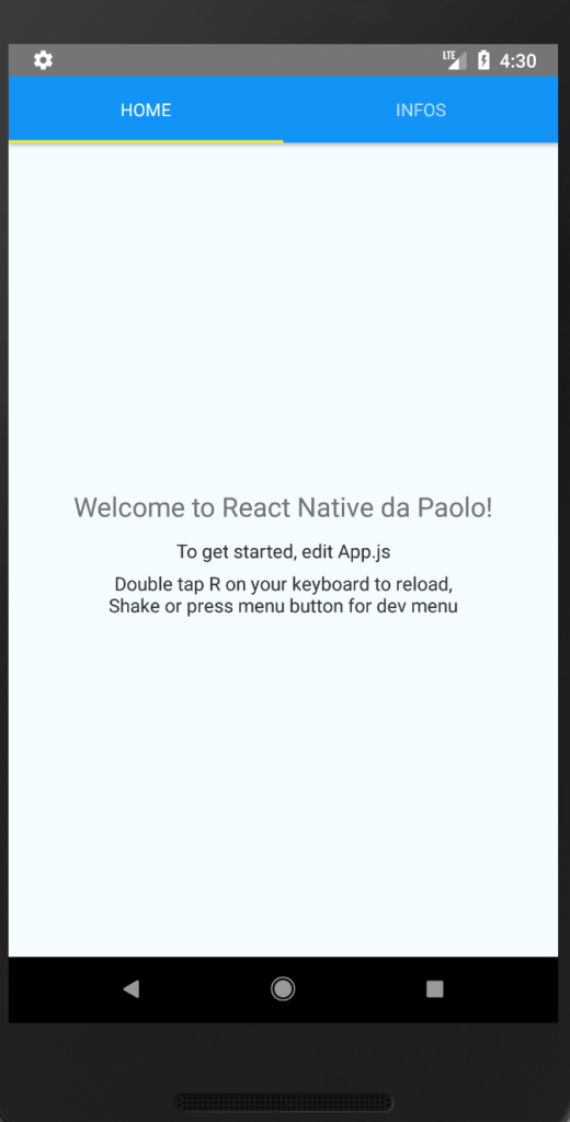 Android react-navigation