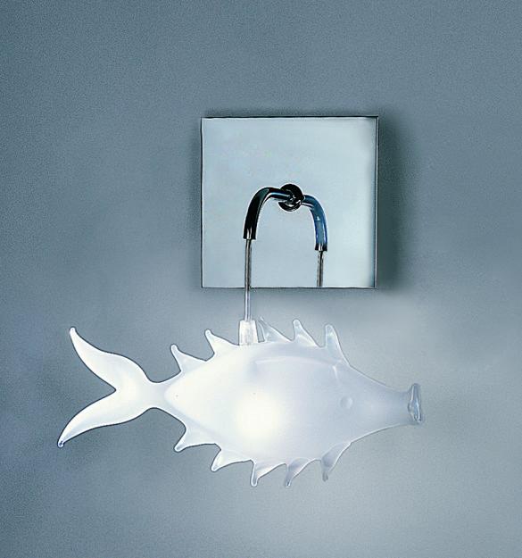 unpesce - lampada a parete