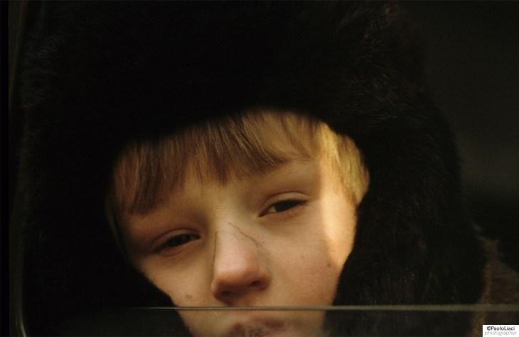 Ritratto di un bambino russo a Mosca