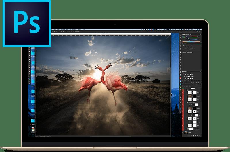 MacBook Mockup – Gold