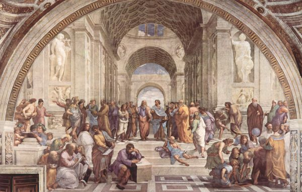 La scuola di Atene di Raffaello.