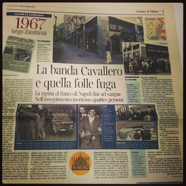 La banda Cavallero: il terzo pezzo dei luoghi della Milano in nero