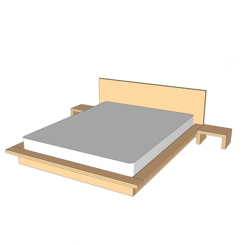 homemade tatami bed plans standard frame