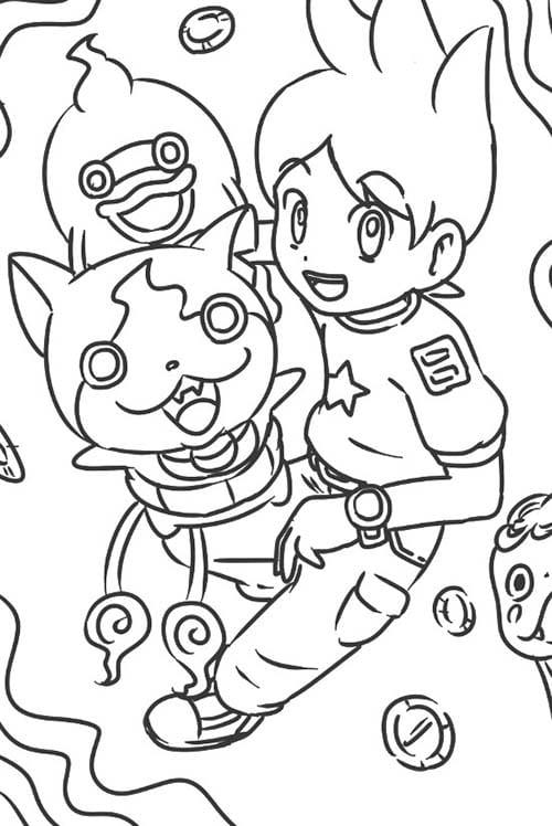 nouvelles images à colorier yokai watch #3