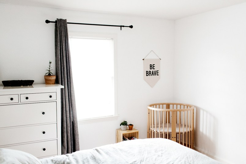 making room for a baby in a small space