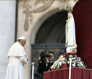 Risultati immagini per fatima papa francesco