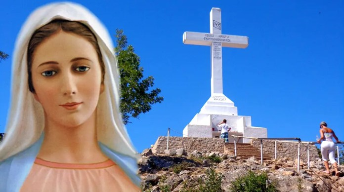 The column dedicated to Medjugorje, 1 October 2020