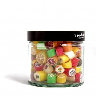 fruit candy in a 200gr jar