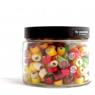 fruit candy in a 390gr jar